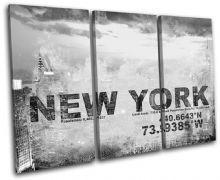 New York NYC USA City Typography - 13-2121(00B)-TR32-LO
